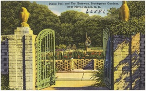 Diana Pool and the gateway, Brookgreen Gardens, near Myrtle Beach, S. C.