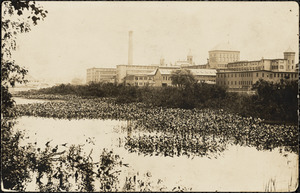 Waltham Watch Factory with Charles River in the foreground