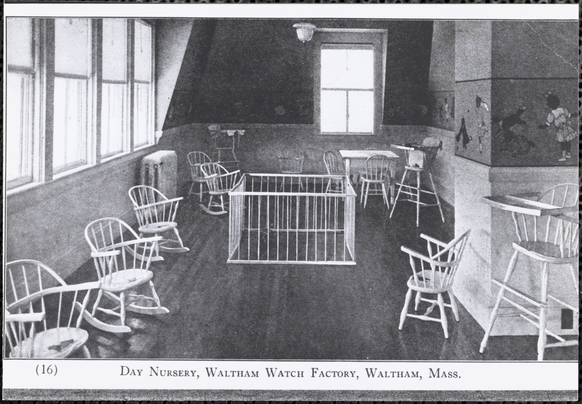 Day Nursery, Waltham Watch Factory, Waltham, Mass