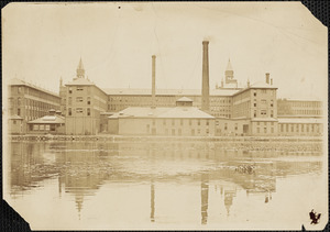 Waltham Watch Company with Charles River in foreground