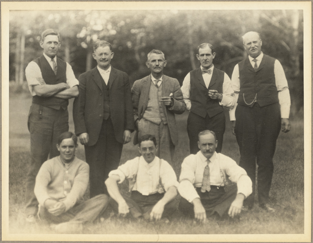A group of superintendent and foremen in 1910