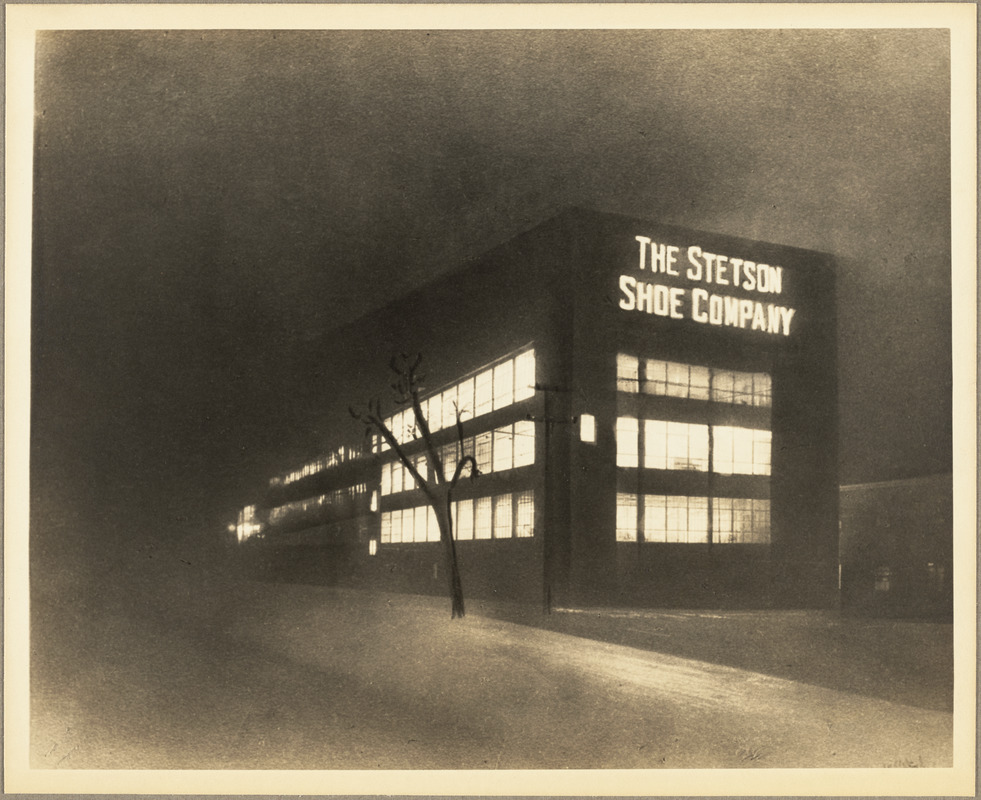 The Stetson Shoe Factory at night