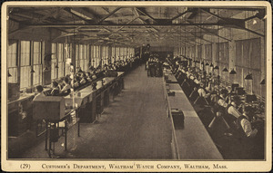Customer's department, Waltham Watch Company, Waltham, Mass.