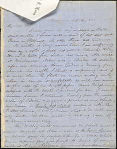 Letter from Zadoc Long to John D. Long, September 4, 1853