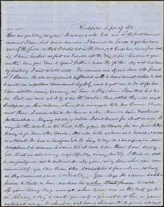 Correspondence from Zadoc Long to John D. Long, September 27 and October 2, 1853