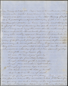 Letter from Zadoc Long to John D. Long, October 21, 1853