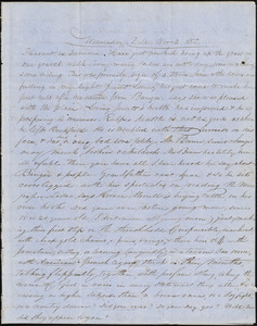 Correspondence from Zadoc Long to John D. Long, November 2 and November 7, 1853