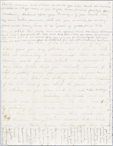 Letter from Persis Seaver Long Bartlett to John D. Long, January 1854
