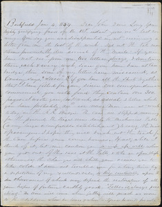 Correspondence from Zadoc Long and Julia Temple Davis Long to John D. Long, January 4 and January 6, 1854