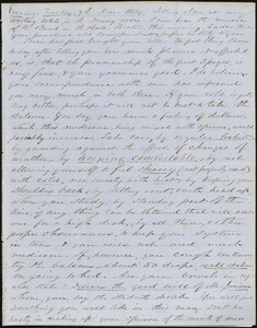 Letter from Zadoc Long and Julia Temple Davis Long to John D. Long, March 7, 1854