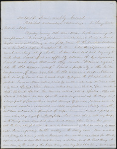 Letter from Zadoc Long to John D. Long, March 13, 1854