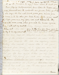 Letter from Persis Seaver Long Bartlett and Julia Temple Davis Long to John D. Long, March 1854