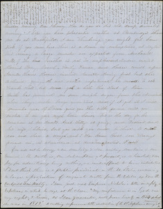 Letter from Zadoc Long and Persis Seaver Long Bartlett, to John D. Long, March 28, 1854