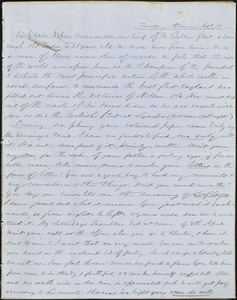 Correspondence from Zadoc Long to John D. Long, April 11 and April 13, 1854