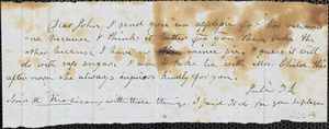 Correspondence from Julia Temple Davis Long and Zadoc Long to John D. Long, April 16-17, 1854