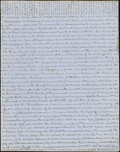 Letter from Zadoc Long and Persis Seaver Long to John D. Long, May 25, 1854