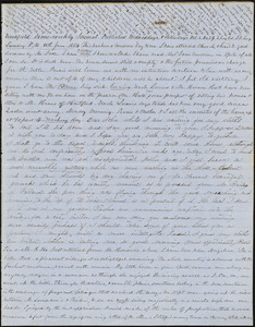 Letter from Zadoc Long, Persis Seaver Long Bartlett, and Julia Temple Davis Long to John D. Long, June 11, 1854