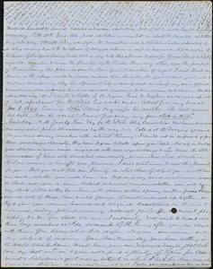 Letter from Zadoc Long to John D. Long, June 28, 1854