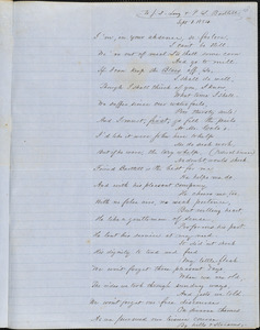Correspondence from Zadoc Long to John D. Long and Persis Seaver Long Bartlett, September 1 and September 5, 1854