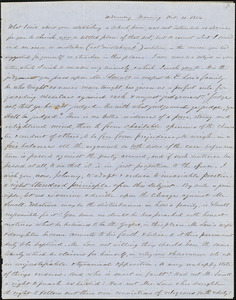 Letter from Zadoc Long and Julia Temple Davis Long to John D. Long and Persis Seaver Long Bartlett, October 11, 1854