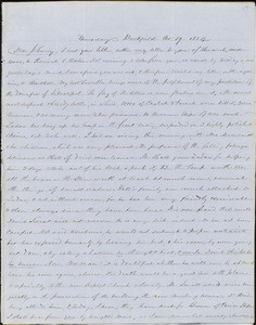 Letter from Zadoc Long to John D. Long, October 19, 1854