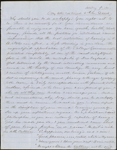 Letter from Zadoc Long to John D. Long, March 10, 1855