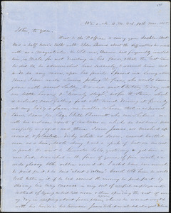 Letter from Zadoc Long to John D. Long and Persis Seaver Long Bartlett, March 14, 1855
