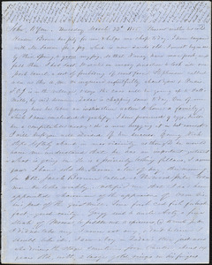 Letter from Zadoc Long to John D. Long and Persis Seaver Long Bartlett, March 22, 1855