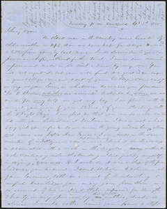Letter from Zadoc Long and Julia Temple Davis Long to John D. Long and Persis Seaver Long Bartlett, April 3, 1855