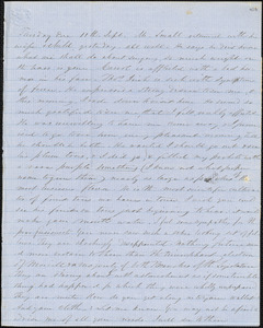 Letter from Zadoc and Julia Long to John D. Long, September 11 - 16, 1855