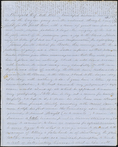 Letter from Zadoc Long to John D. Long, October 10 - 15, 1855