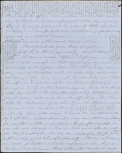 Letter from Zadoc and Julia Long to John D. Long, October 15 - 22, 1855