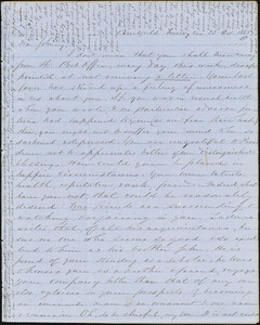 Letter from Zadoc Long to John D. Long, October 23 - 30, 1855