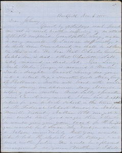 Letter from Zadoc Long to John D. Long, November 6 - December 13, 1855