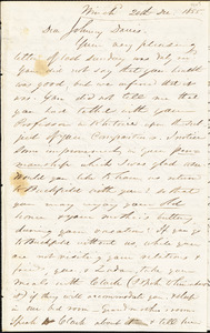Letter from Zadoc Long to John D. Long, December 20 - 23, 1855