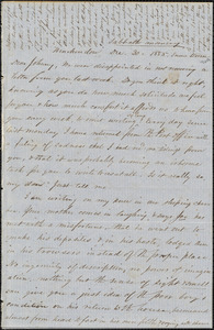 Letter from Zadoc Long to John D. Long, December 30 - 31, 1855
