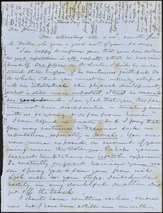 Letter from Zadoc and Julia Long to John D. Long, March 6, 1856