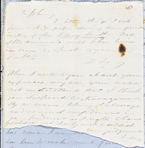Letter from Zadoc Long to John D. Long, April 8-14, 1856
