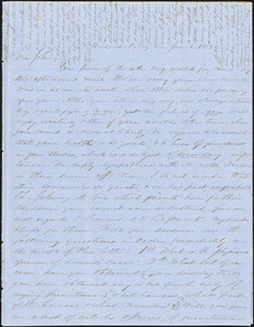 Letter from Zadoc Long to John D. Long, June 6-10, 1856