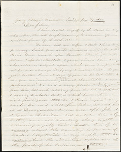 Letter from Zadoc Long to John D. Long, January 29-30, 1860