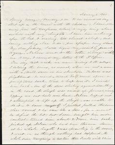 Letter from Zadoc Long to John D. Long, February 6-8, 1860