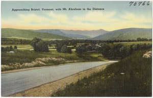 Approaching Bristol, Vermont, with Mt. Abraham in the distance