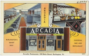 Arcadia Restaurant, 159 Main Street, Burlington, Vt.