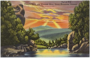 Camel's Hump and Winooski River, Green Mountains, Vermont