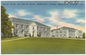 Battell South and Battell North, Middlebury College, Middlebury, Vermont