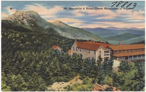 Mount Mansfield & Hotel, Green Mountains of Vermont