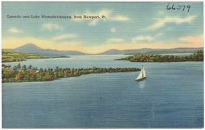 Canada and Lake Memphremagog from Newport, Vt.