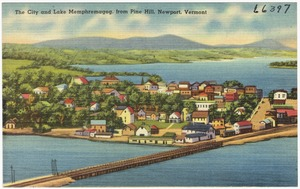 The city and Lake Memphremagog from Pine Hill, Newport, Vt.