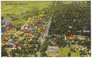 Air view of St. Albans, Vt.