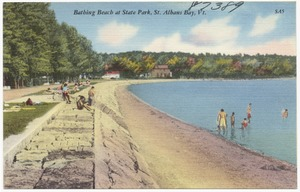 Bathing Beach at State Park, St. Albans Bay, Vt.